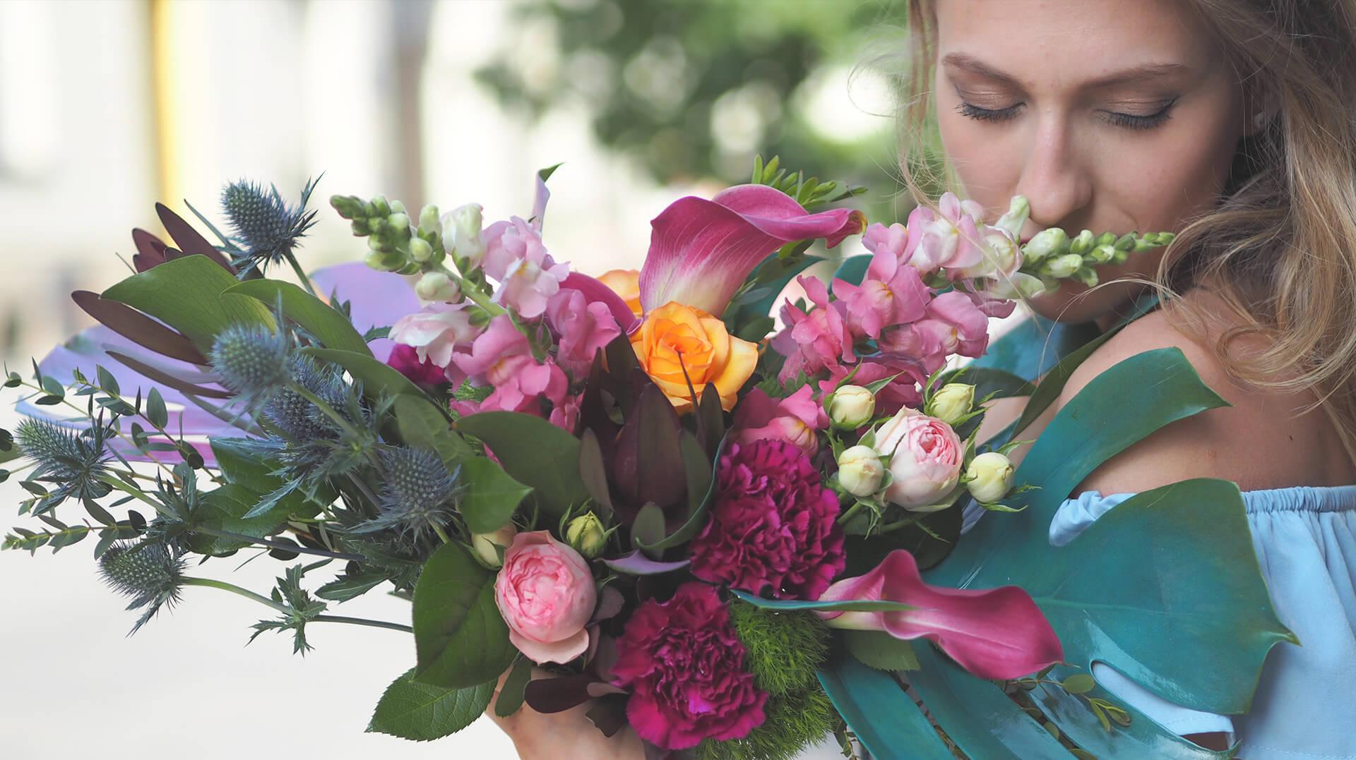 Bukiet Kolorowe Róże