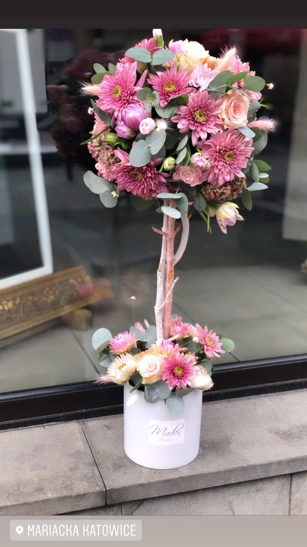 Drzewko Kwiatowe w Różu
