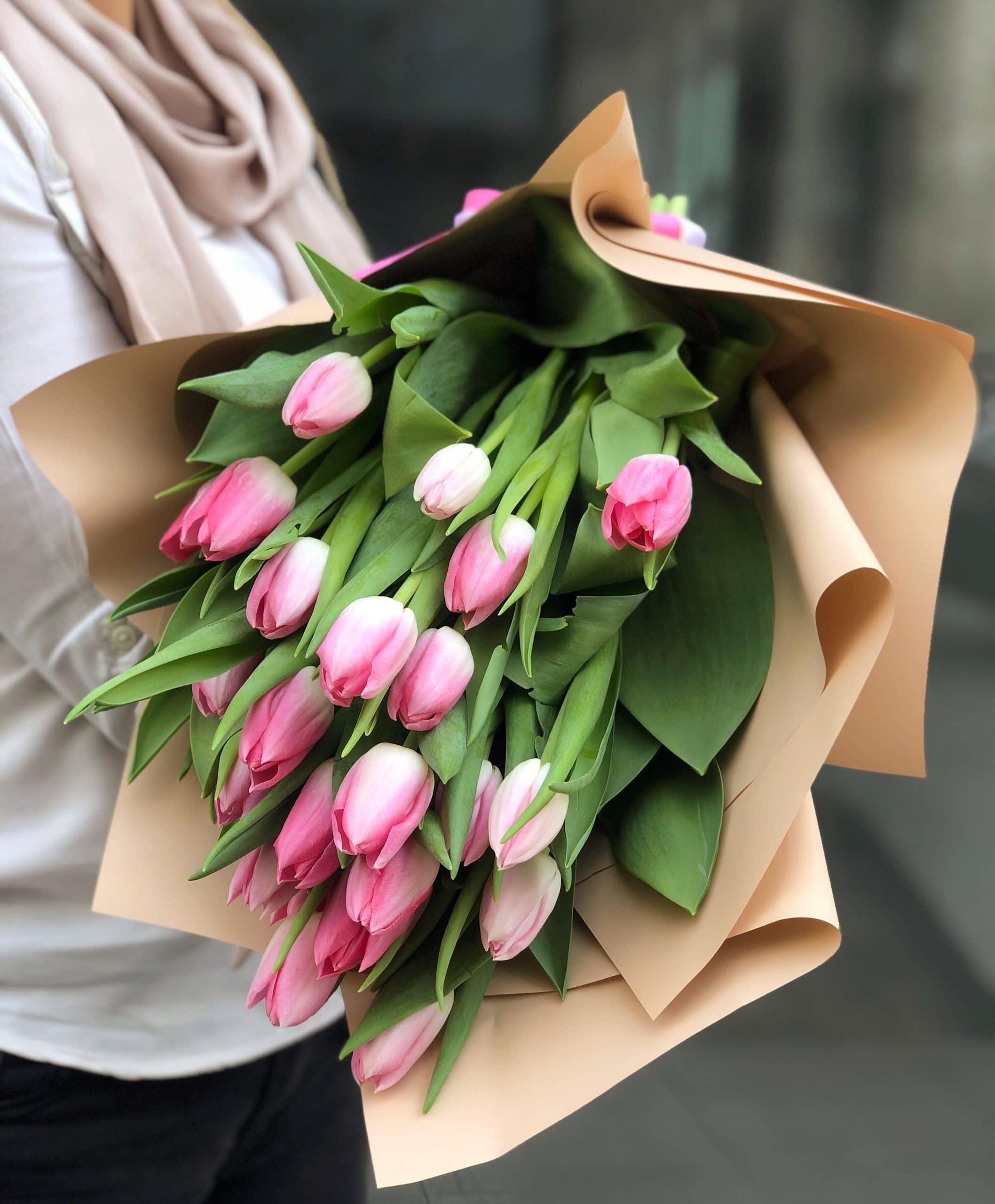 Bukiet Różowe Tulipany
