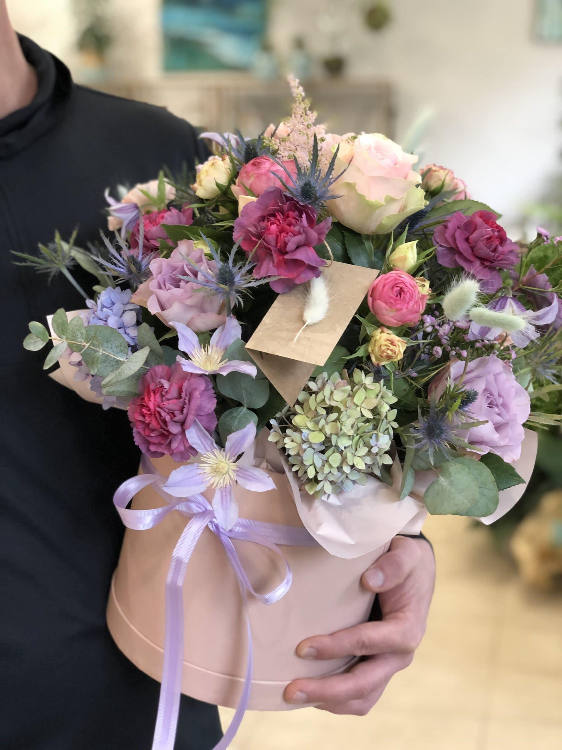 Flowerbox Pudrowo Różowy