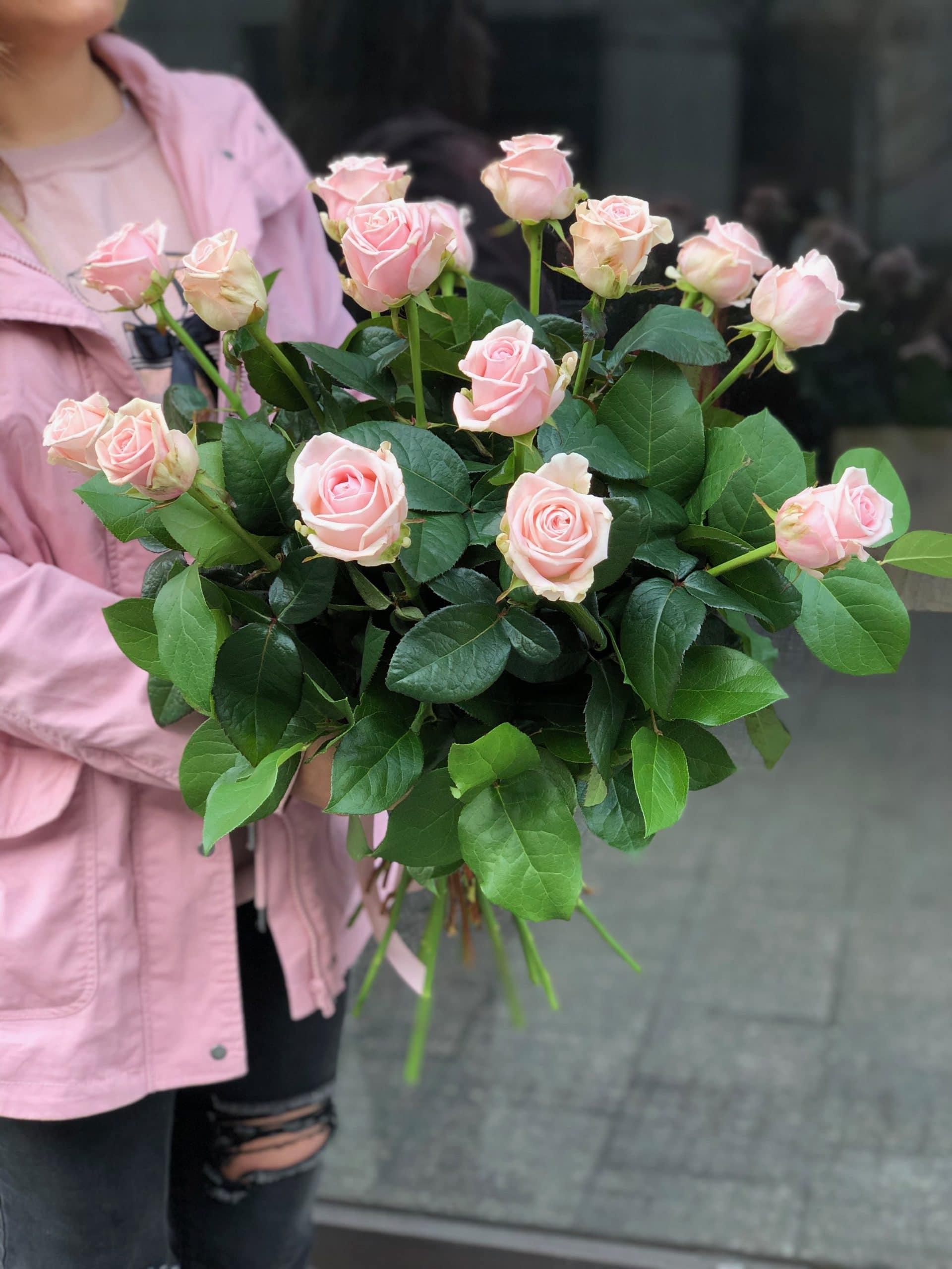 Bukiet Różowe Róże