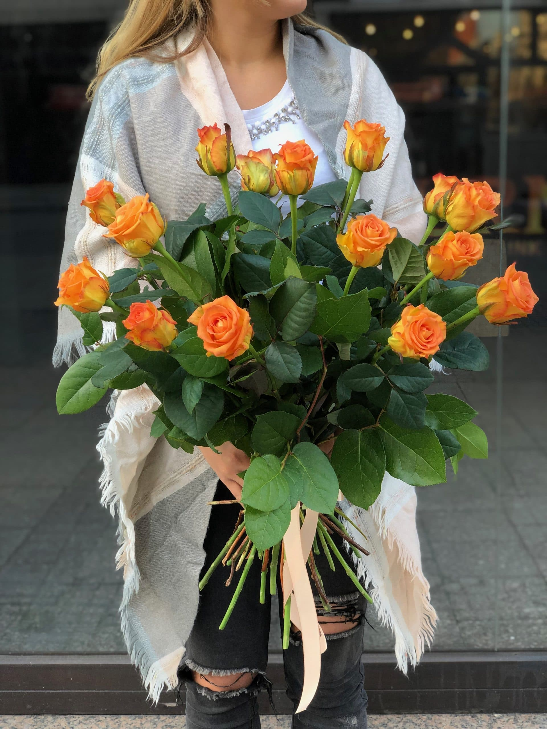 Bukiet Pomarańczowe Róże