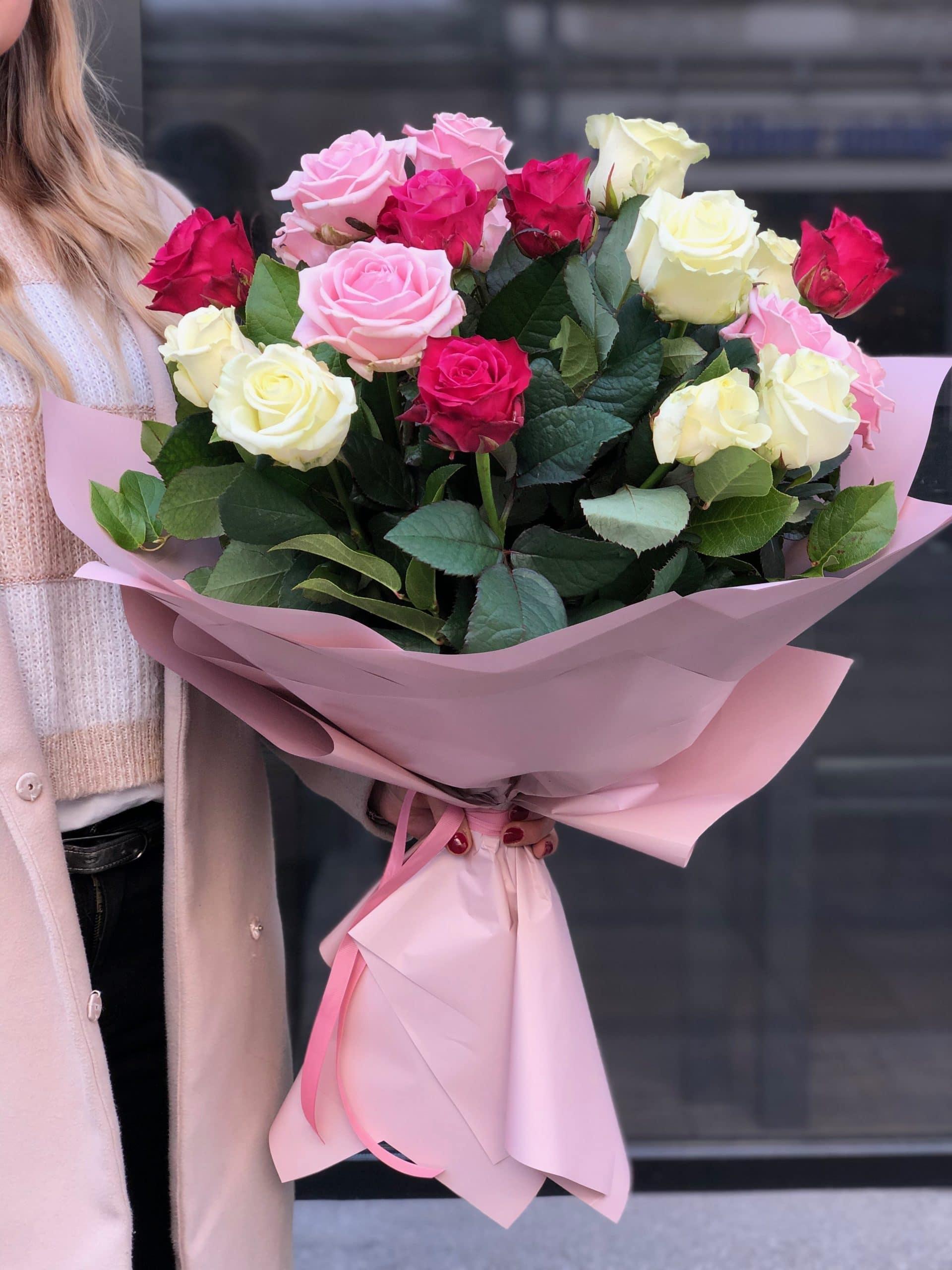 Bukiet Tęczowe Róże