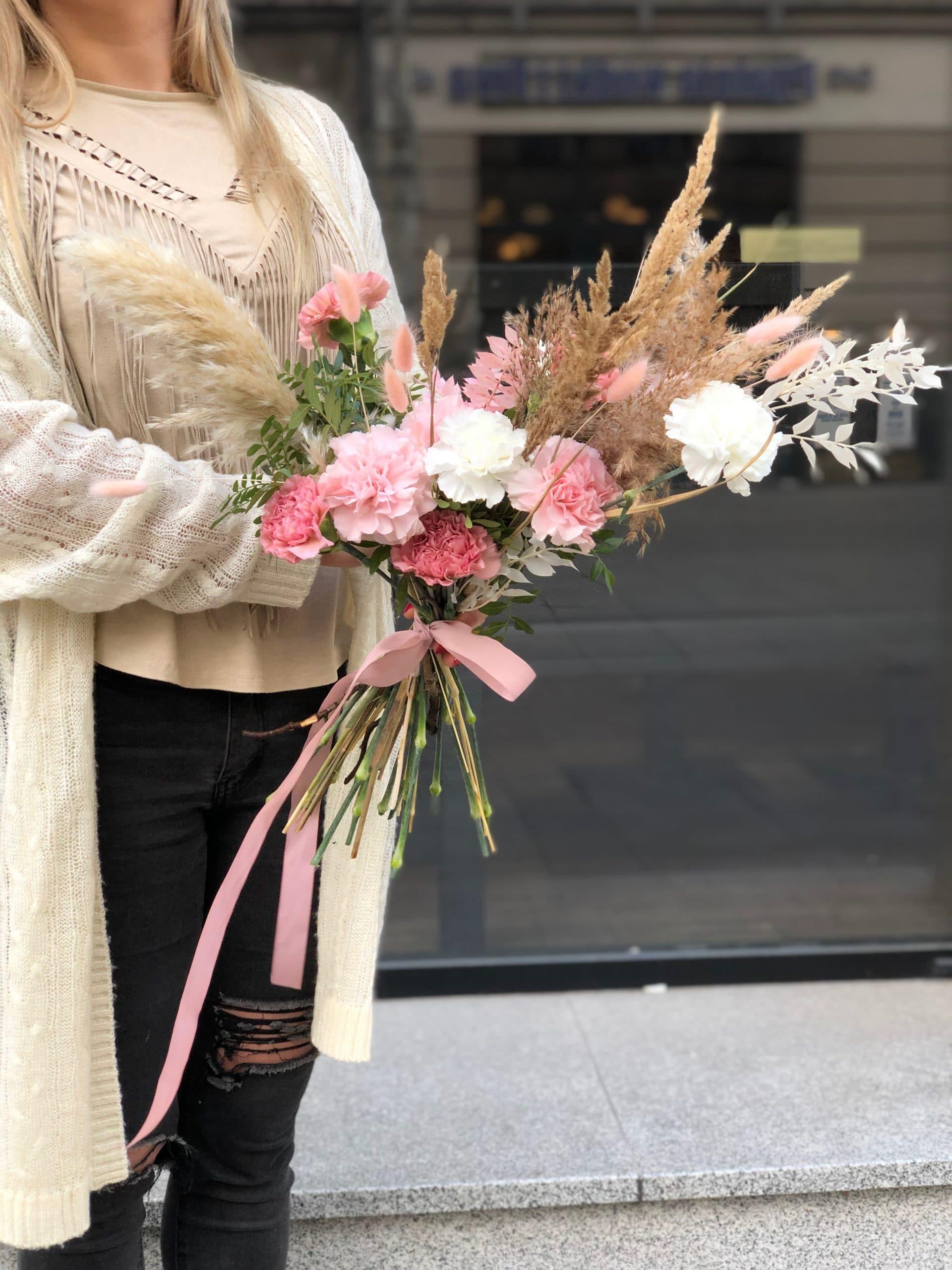 Bukiet Różowy Puszek