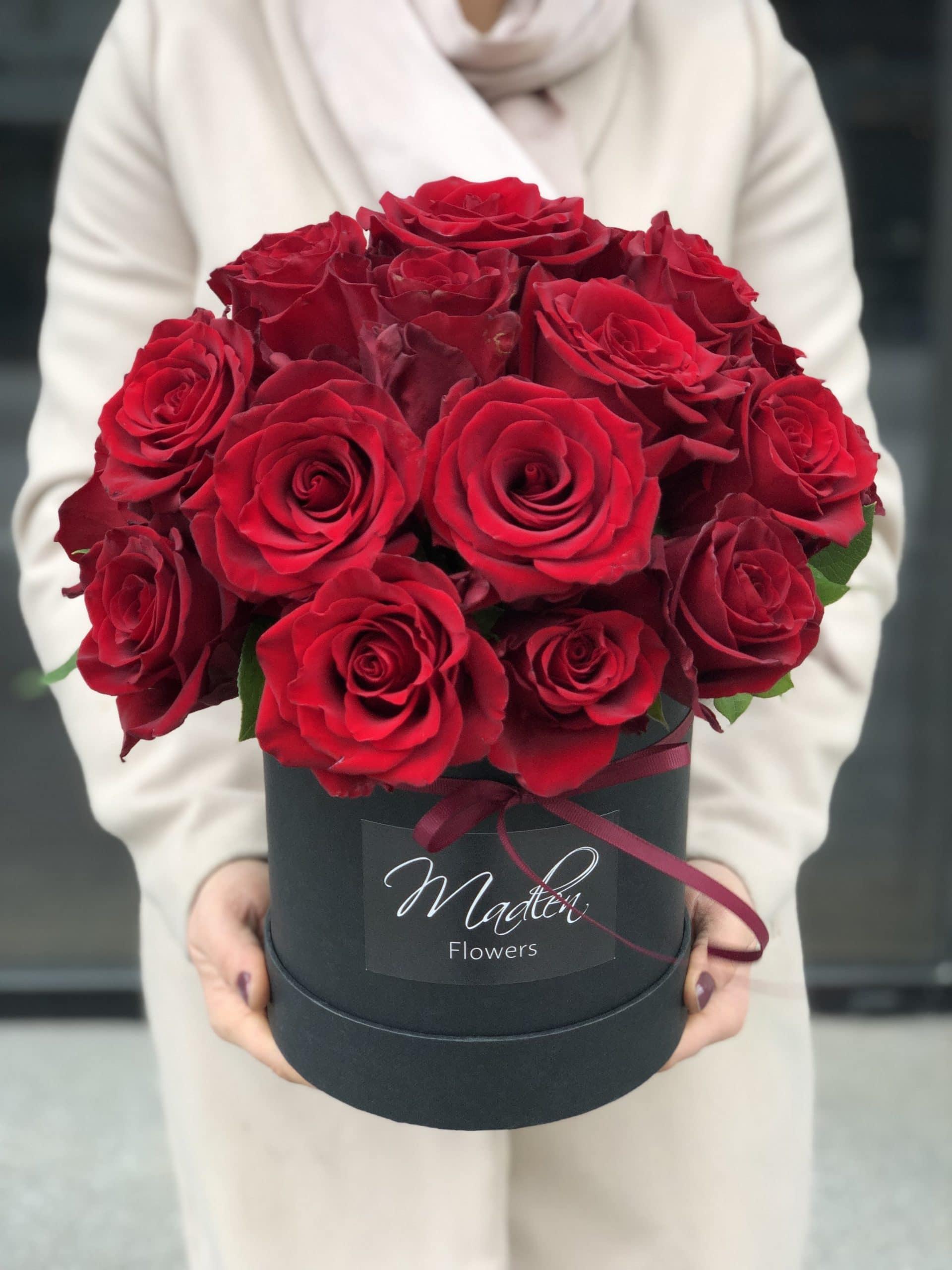 Flowerbox Czerwone Róże II