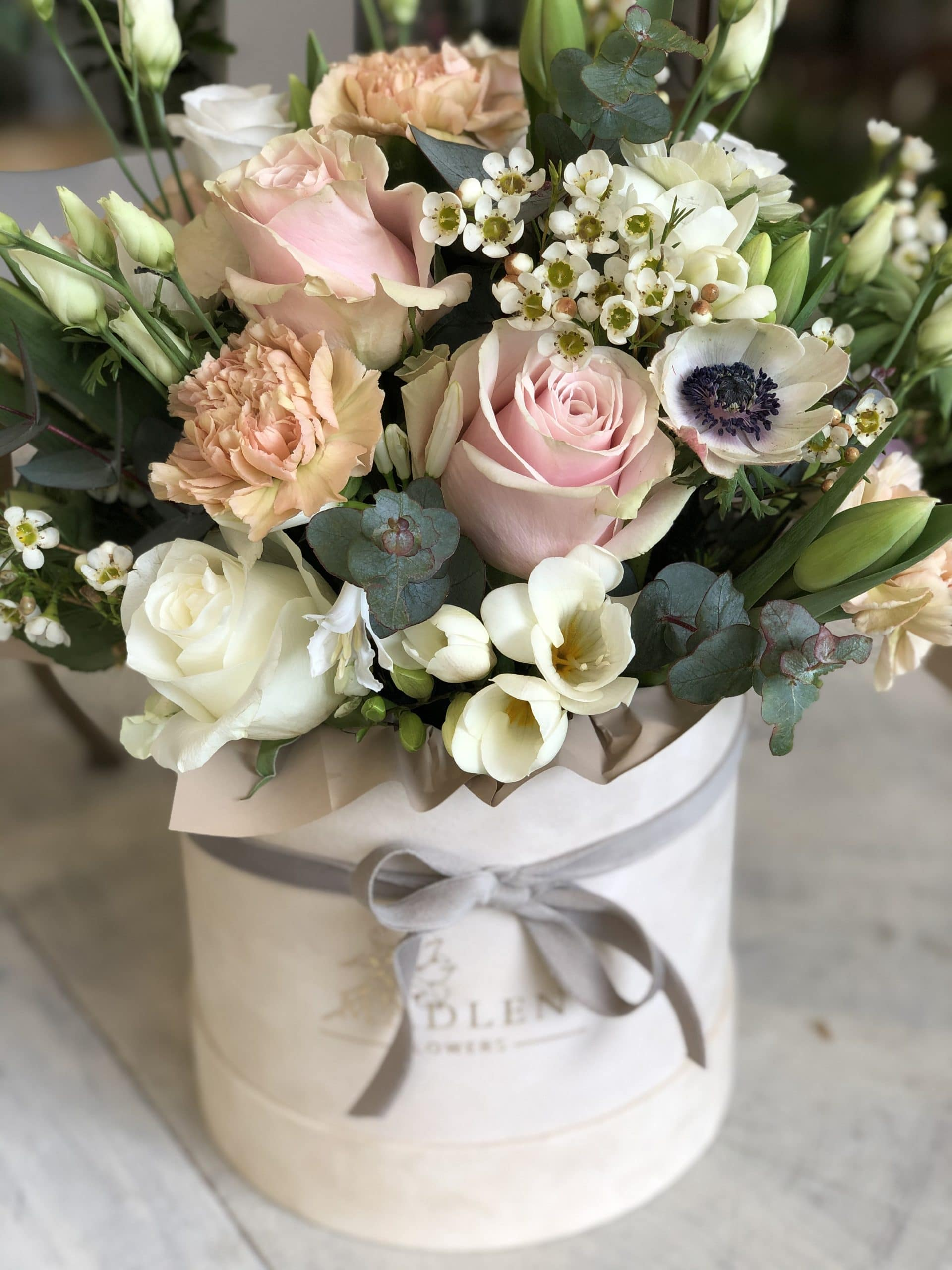 Flowerbox Beżowy