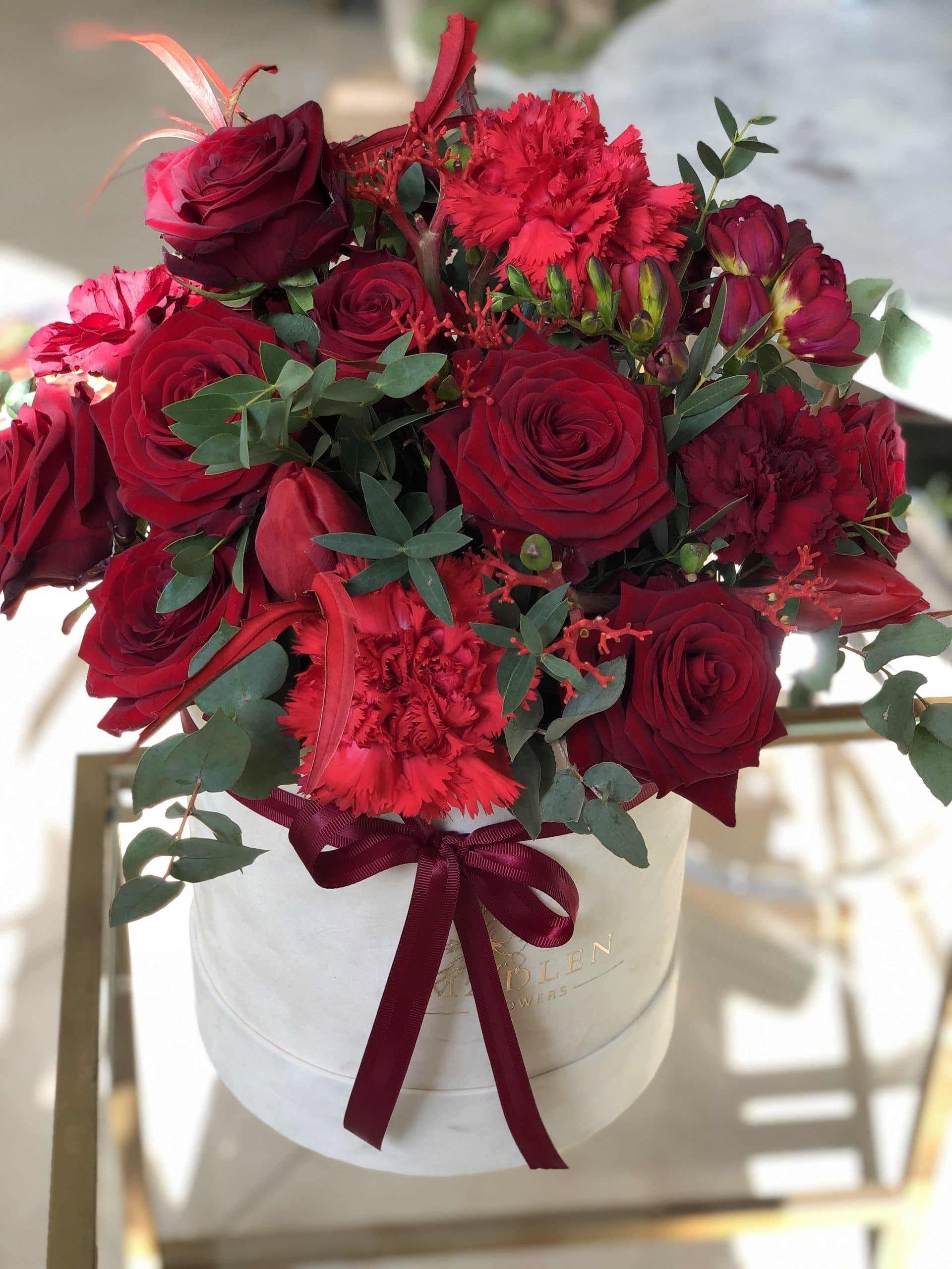Flowerbox W czerwieni