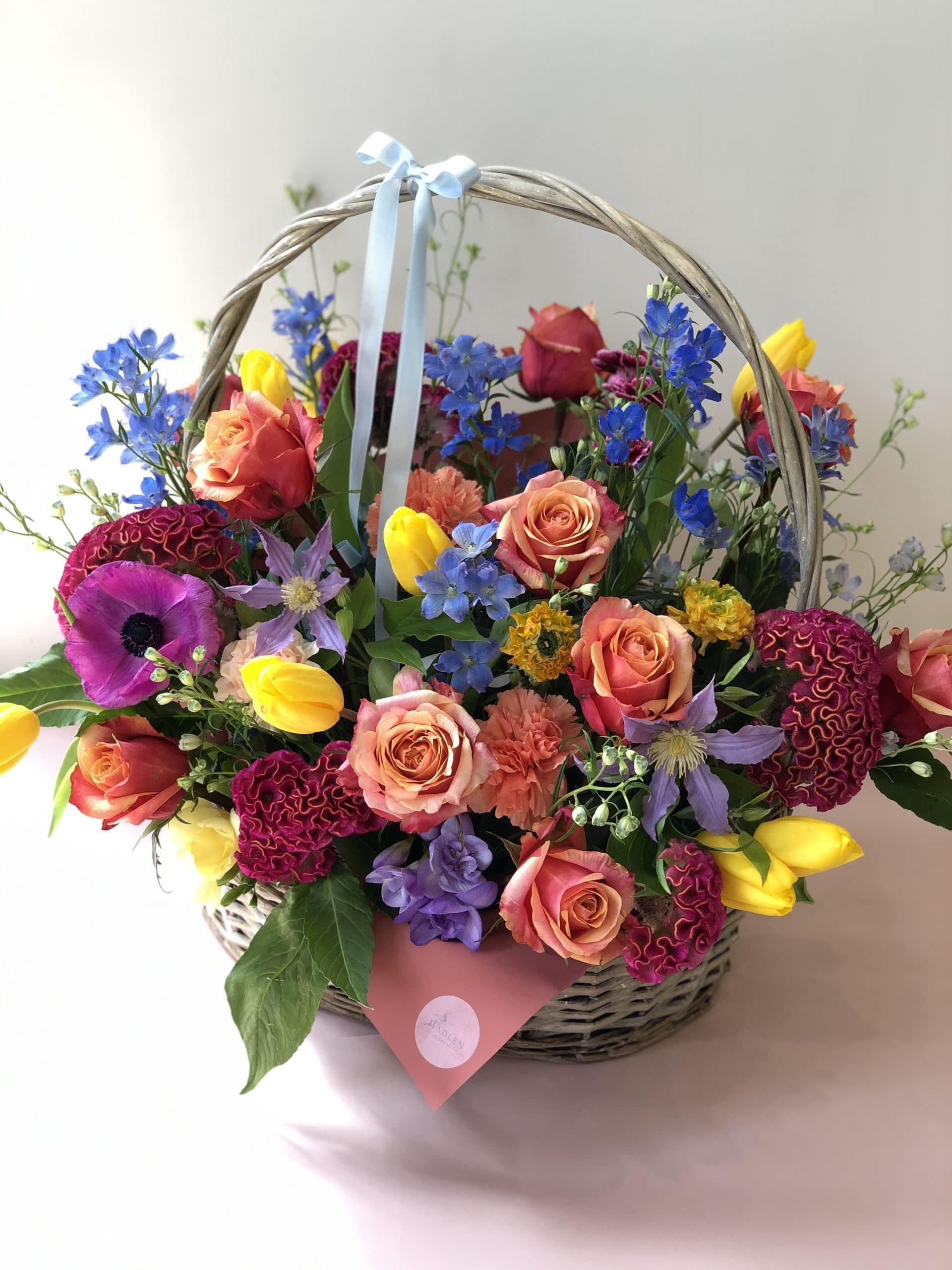 Kolorowy Kosz kwiatów