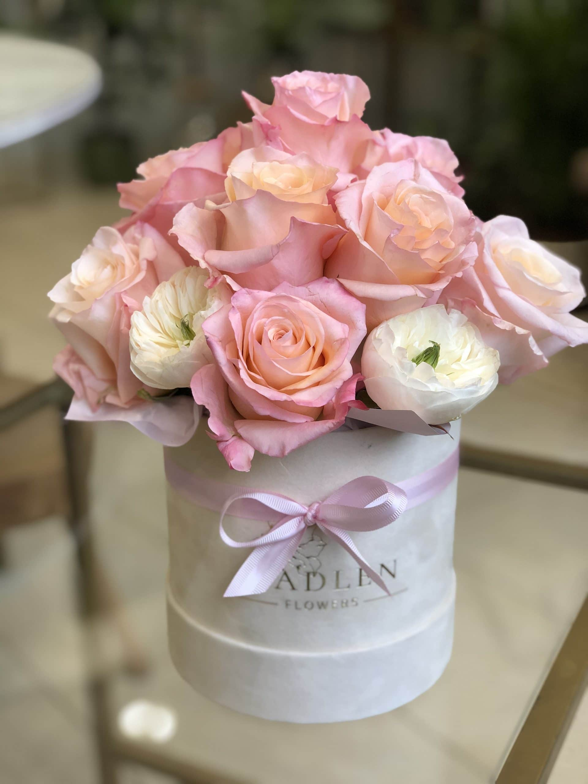 Flowerbox Różowe Róże