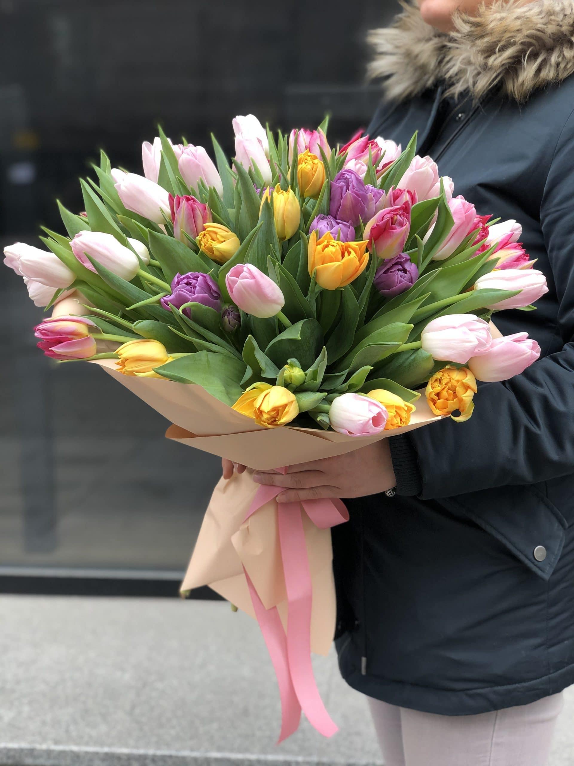 Bukiet Kolorowe Tulipany